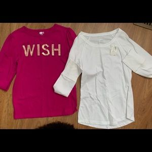 Girls shirts (2) sizes 10/12